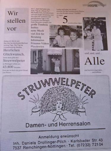Struwwelpeter Zeitungsausschnitt